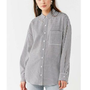 Urban Outfitters Odette Striped Button-Down Shirt